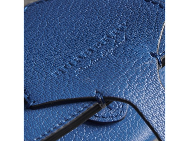 Equestrian Shield Two-tone Leather Folding Wallet in Hydrangea Blue - Women | Burberry - cell image 1