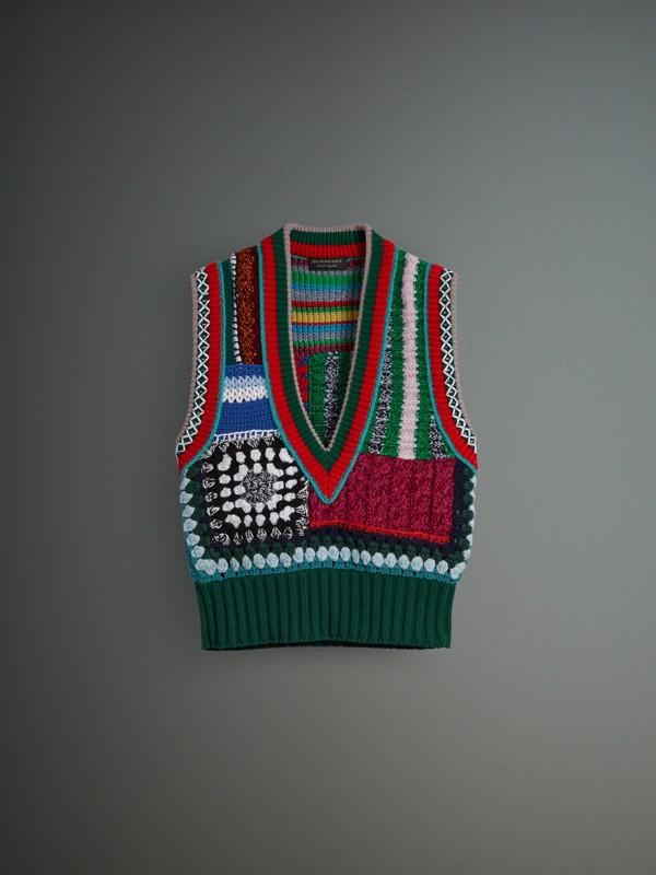 Colete de lã e cashmere com detalhes bordados à mão (Multicolorido) - Mulheres | Burberry - cell image 3