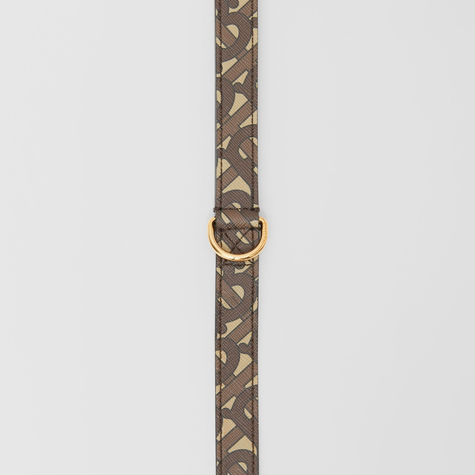Monogram Print E-canvas Dog Leash in Bridle Brown | Burberry - gallery image 3