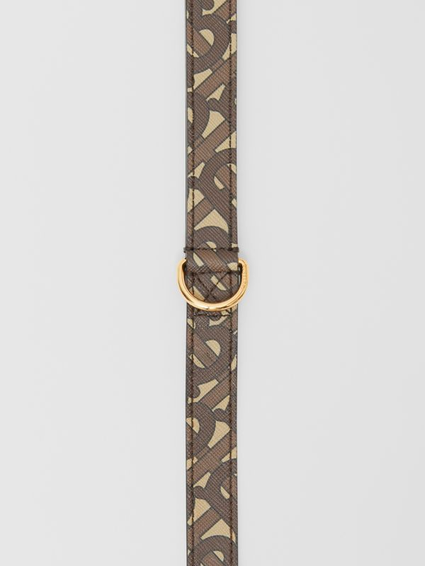 Monogram Print E-canvas Dog Leash in Bridle Brown | Burberry - cell image 3