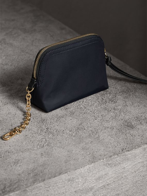 Small Zip-top Technical Nylon Pouch in Ink Blue - Women | Burberry - cell image 2