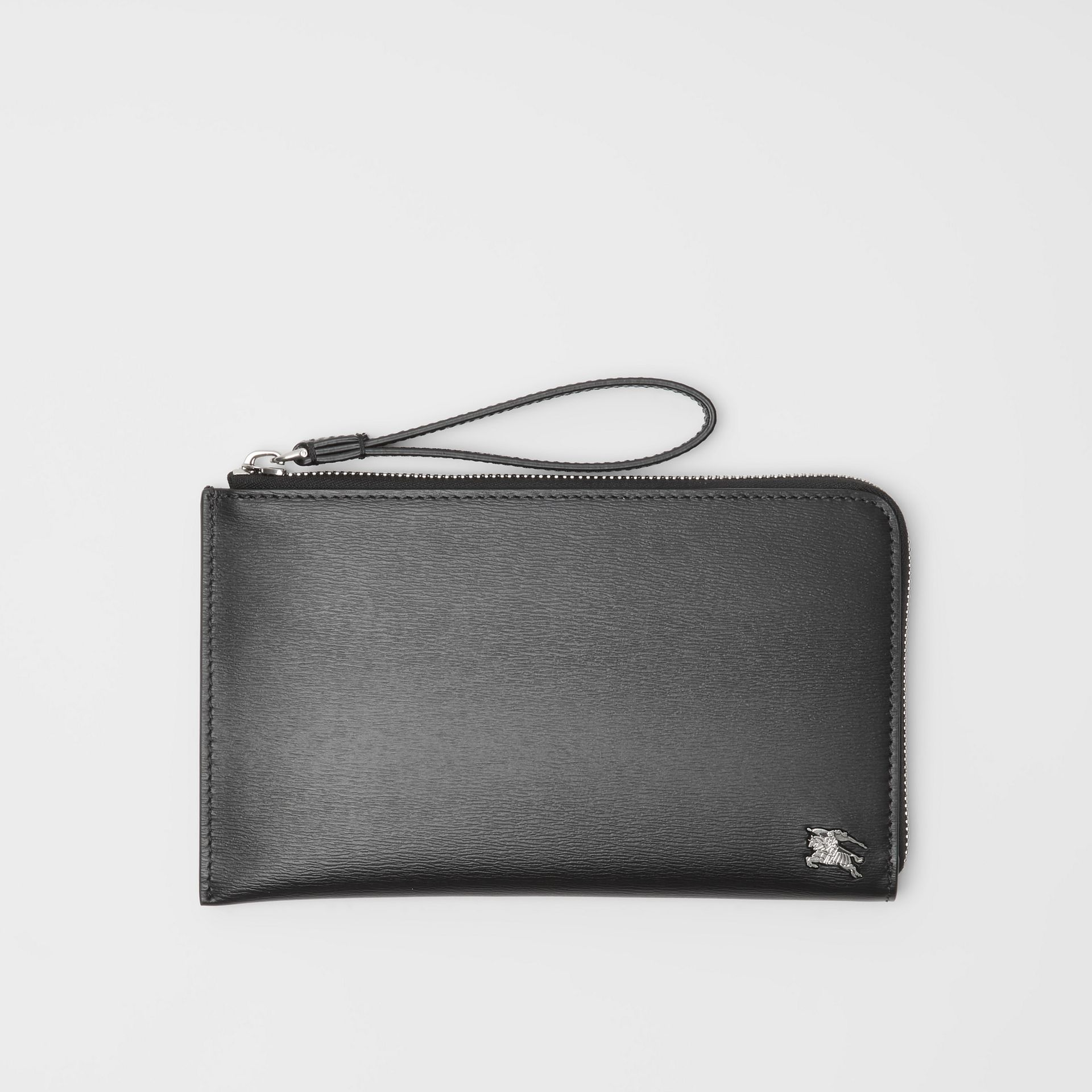 London Leather Travel Wallet in Black - Men | Burberry - gallery image 0