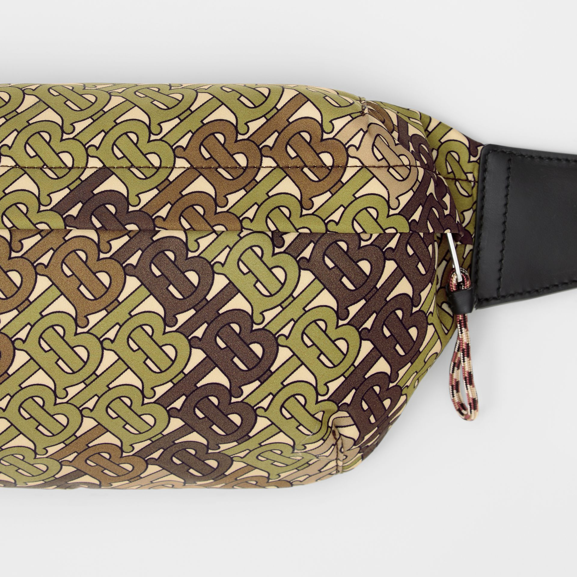 Medium Monogram Print Bum Bag in Khaki Green | Burberry Singapore - gallery image 1