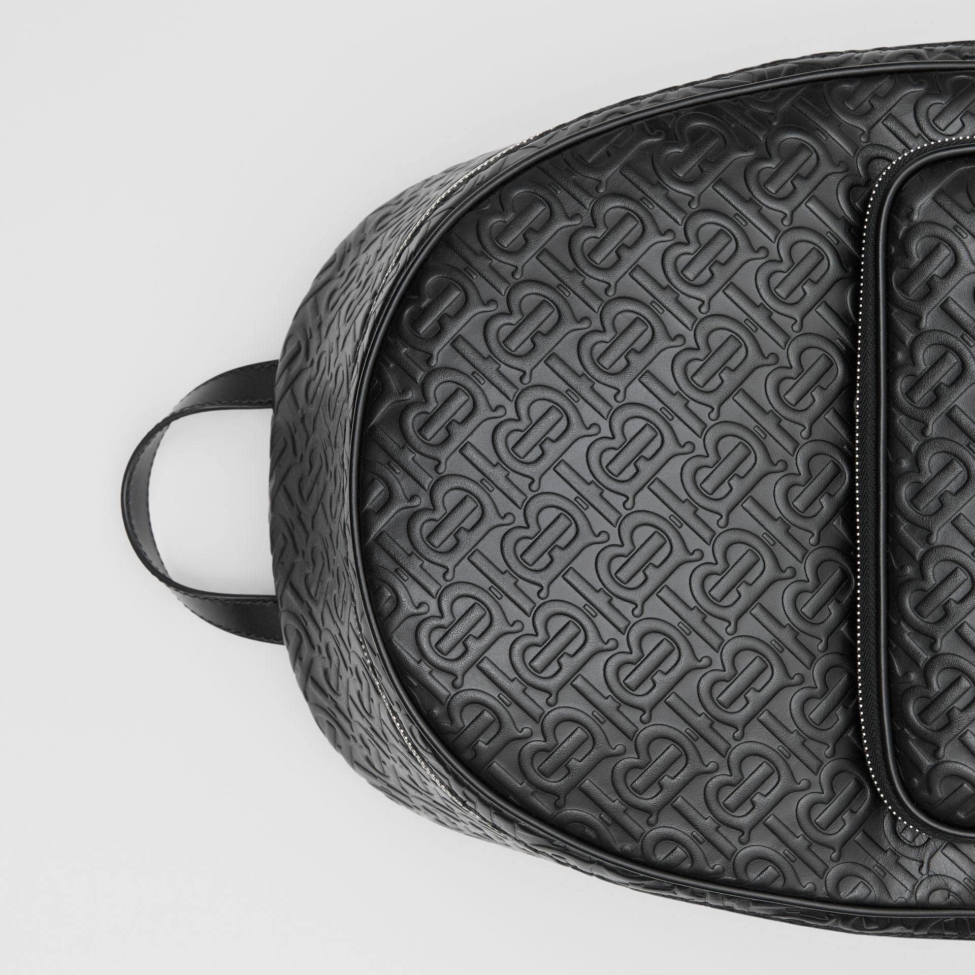 Monogram Leather Backpack in Black - Men | Burberry - gallery image 1