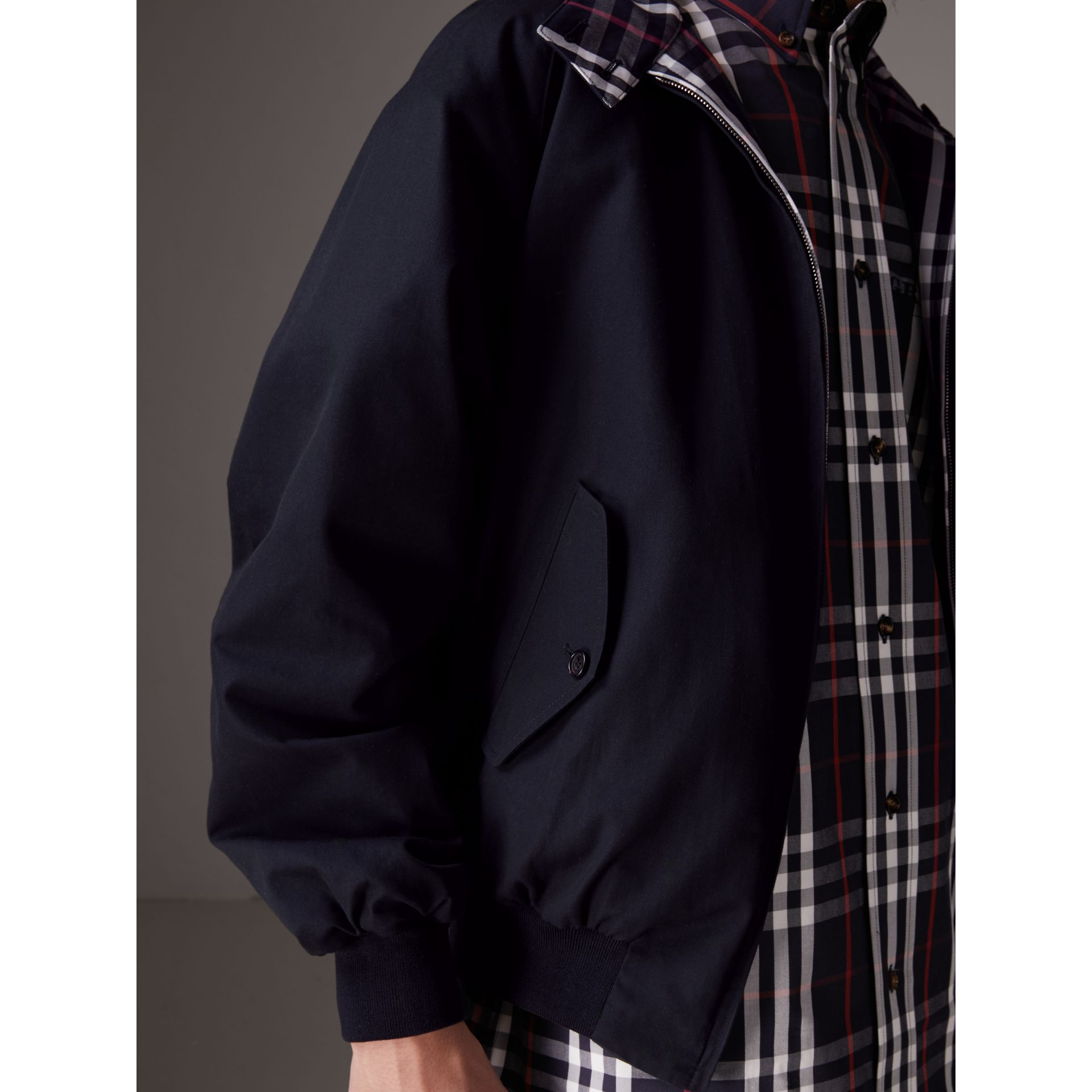 Gosha x Burberry Reversible Harrington Jacket in Navy | Burberry United Kingdom - gallery image 1