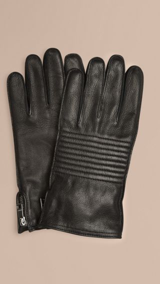 Biker Style Leather Gloves