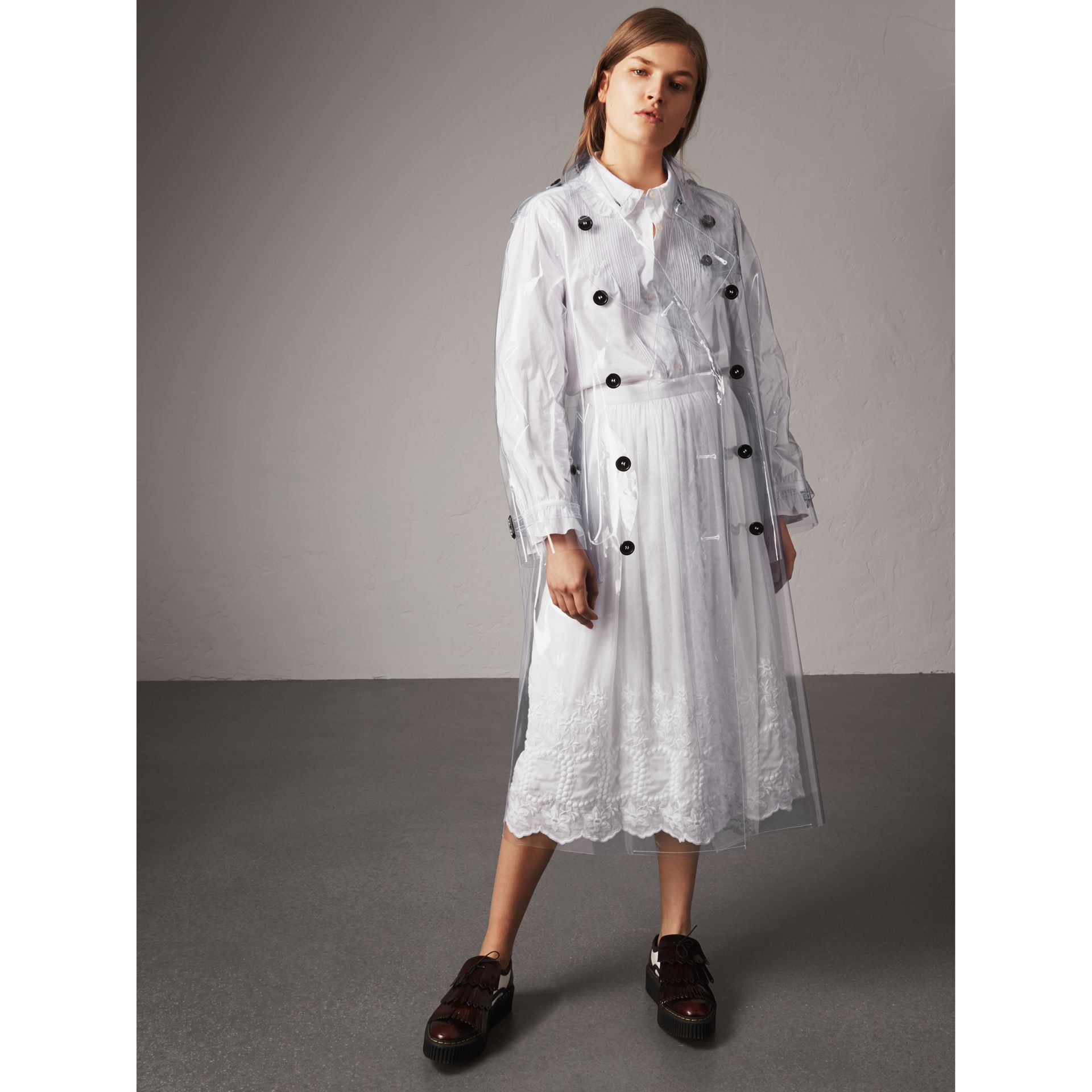 Plastic Trench Coat in Clear - Women | Burberry - gallery image 1
