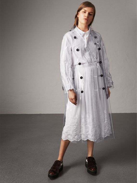 Plastic Trench Coat in Clear