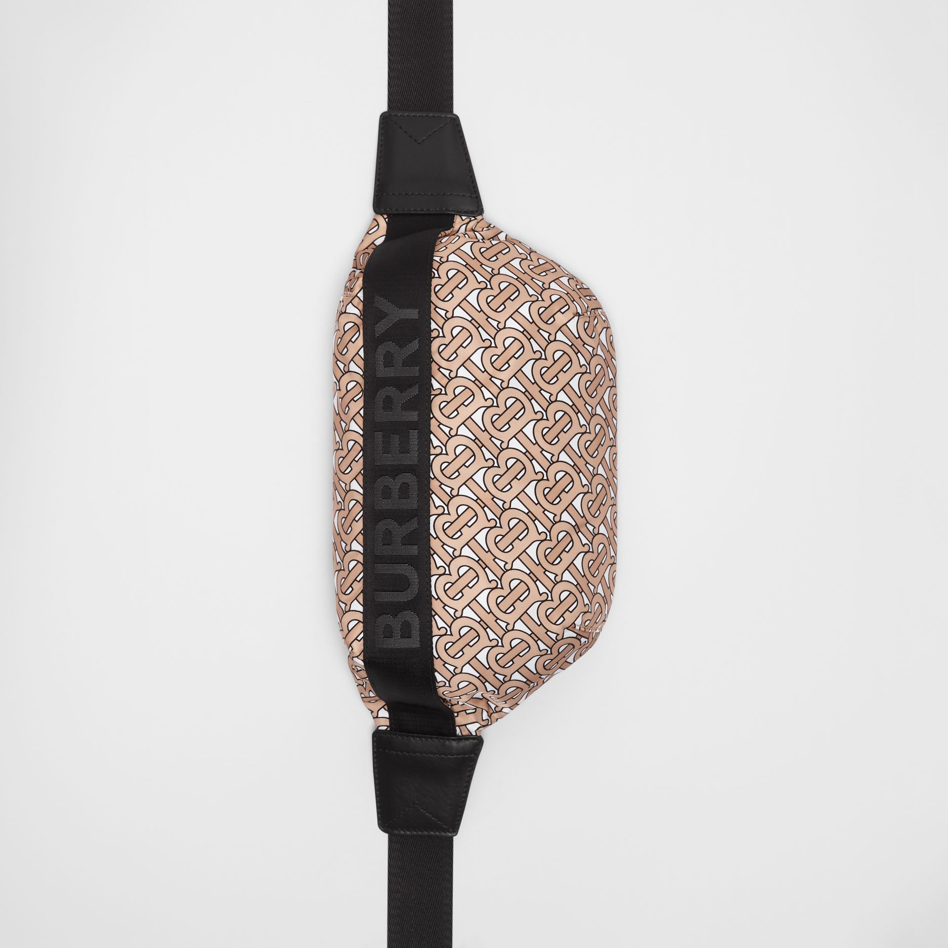 Medium Monogram Print Bum Bag in Beige | Burberry Australia - gallery image 4