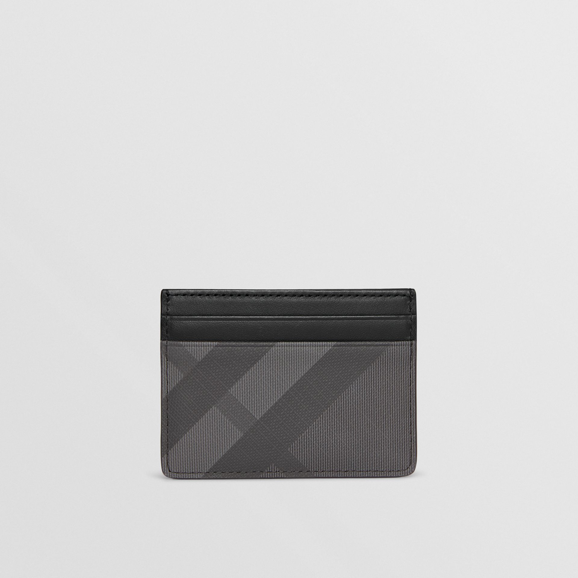 London Check and Leather Card Case in Charcoal/black - Men | Burberry Hong Kong - gallery image 5