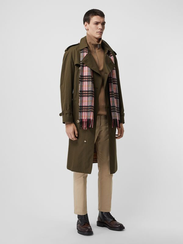 Check Cashmere Scarf in Ash Rose | Burberry Hong Kong S.A.R - cell image 3