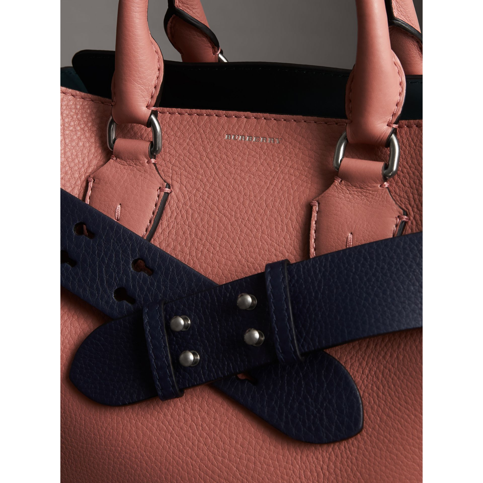 The Small Belt Bag Grainy Leather Belt in Regency Blue - Women | Burberry - gallery image 2