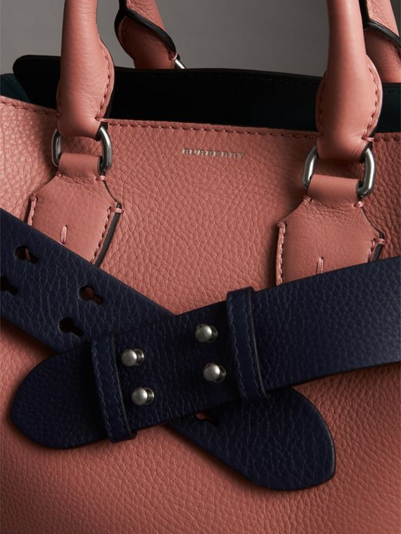 The Small Belt Bag Grainy Leather Belt in Regency Blue - Women | Burberry - cell image 2
