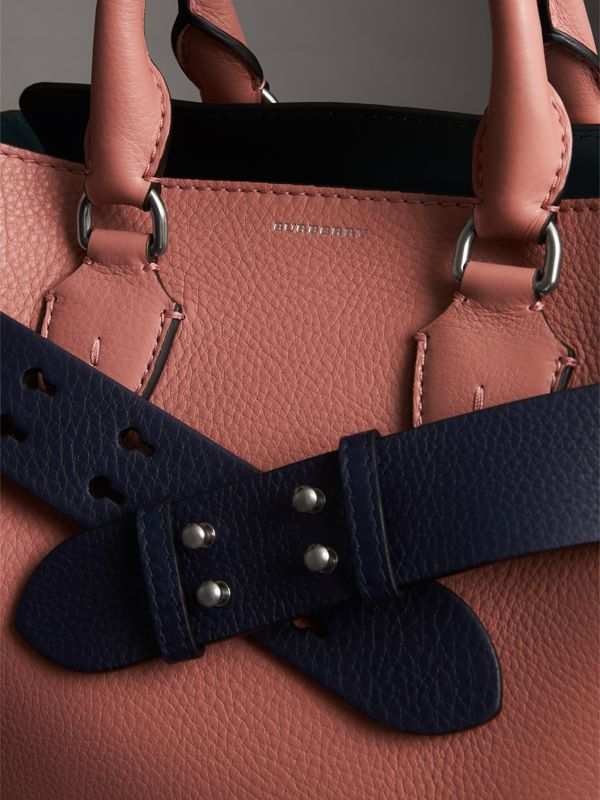 The Small Belt Bag Grainy Leather Belt in Regency Blue - Women | Burberry - cell image 3