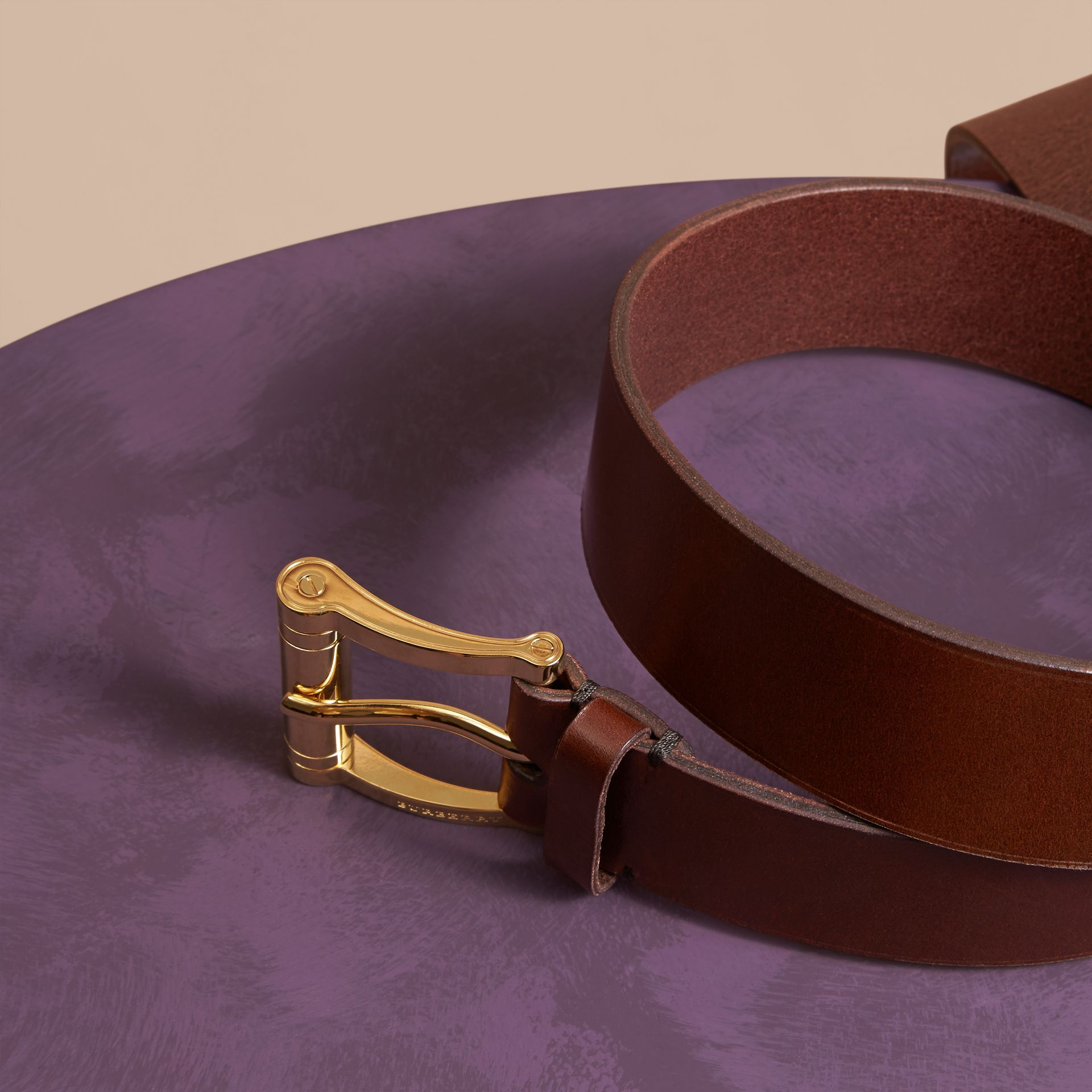 Tan Bridle Leather Belt Tan - gallery image 3