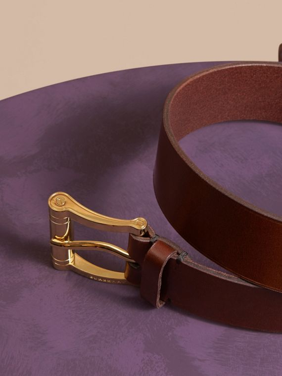 Tan Bridle Leather Belt Tan - cell image 2
