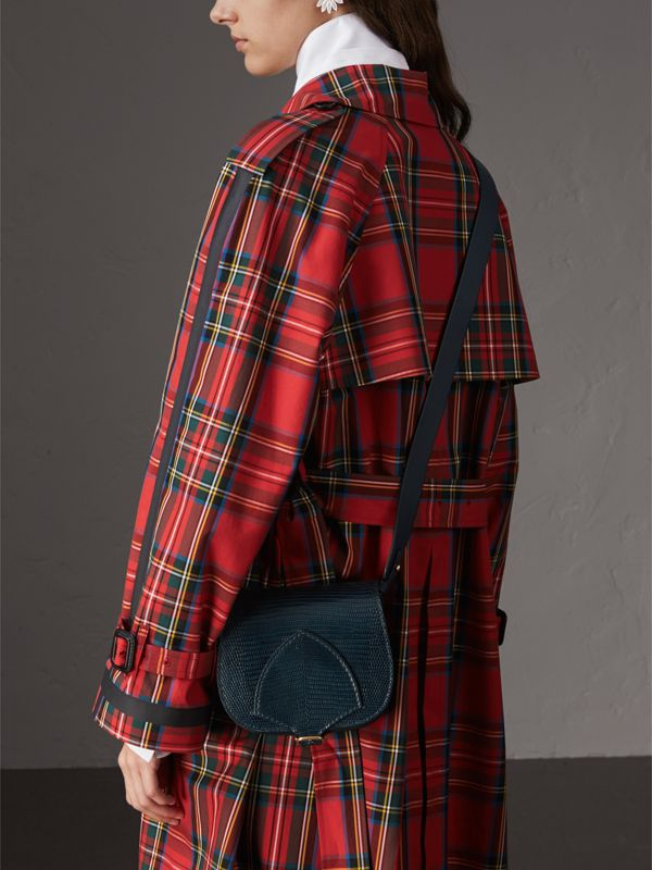 The Satchel in Lizard in Navy - Women | Burberry - cell image 3