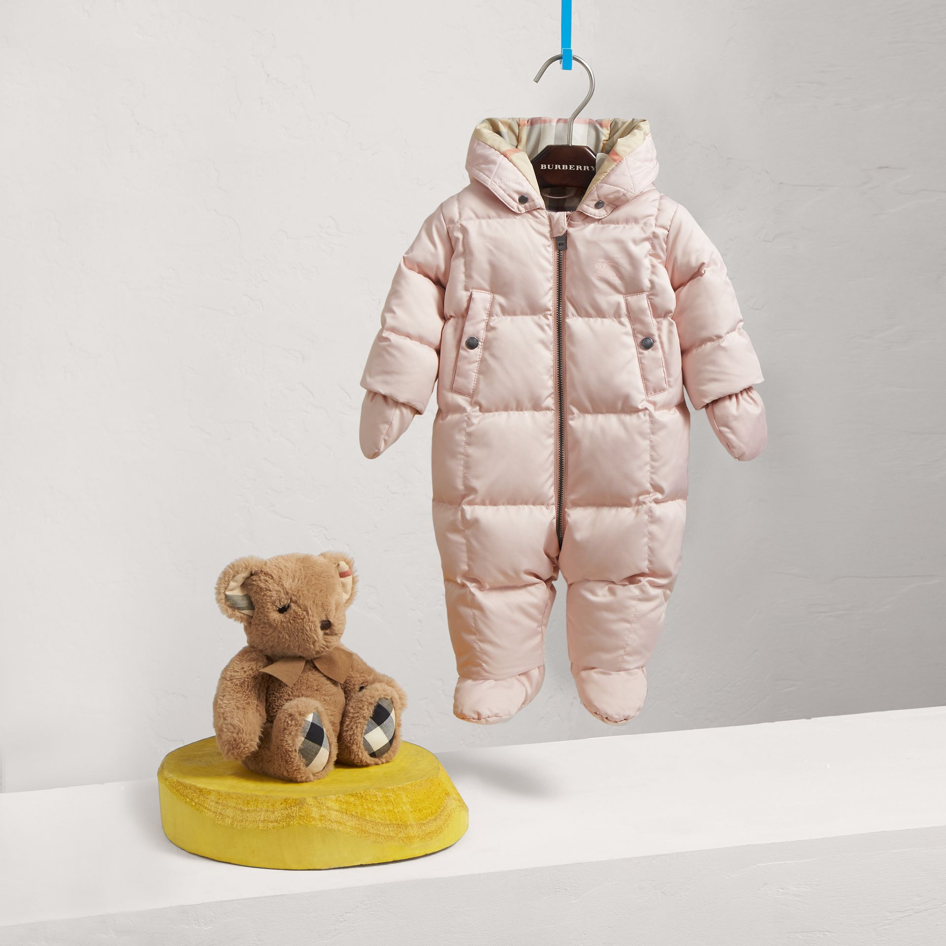 Down-filled Puffer Suit in Powder Pink | Burberry United Kingdom - gallery image 0