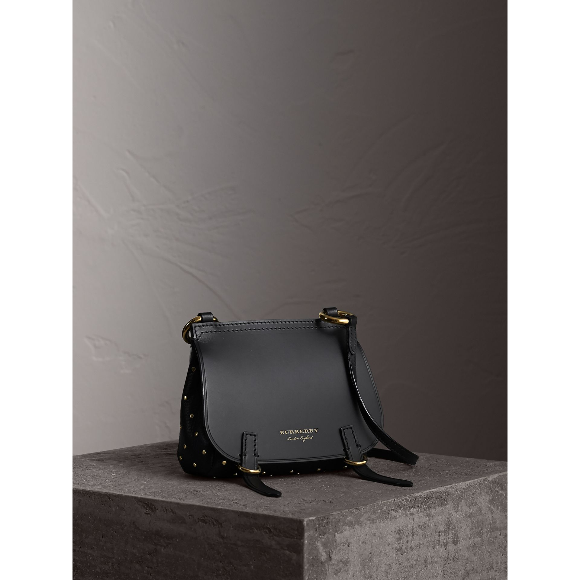 The Baby Bridle Bag in Riveted Leather - gallery image 1