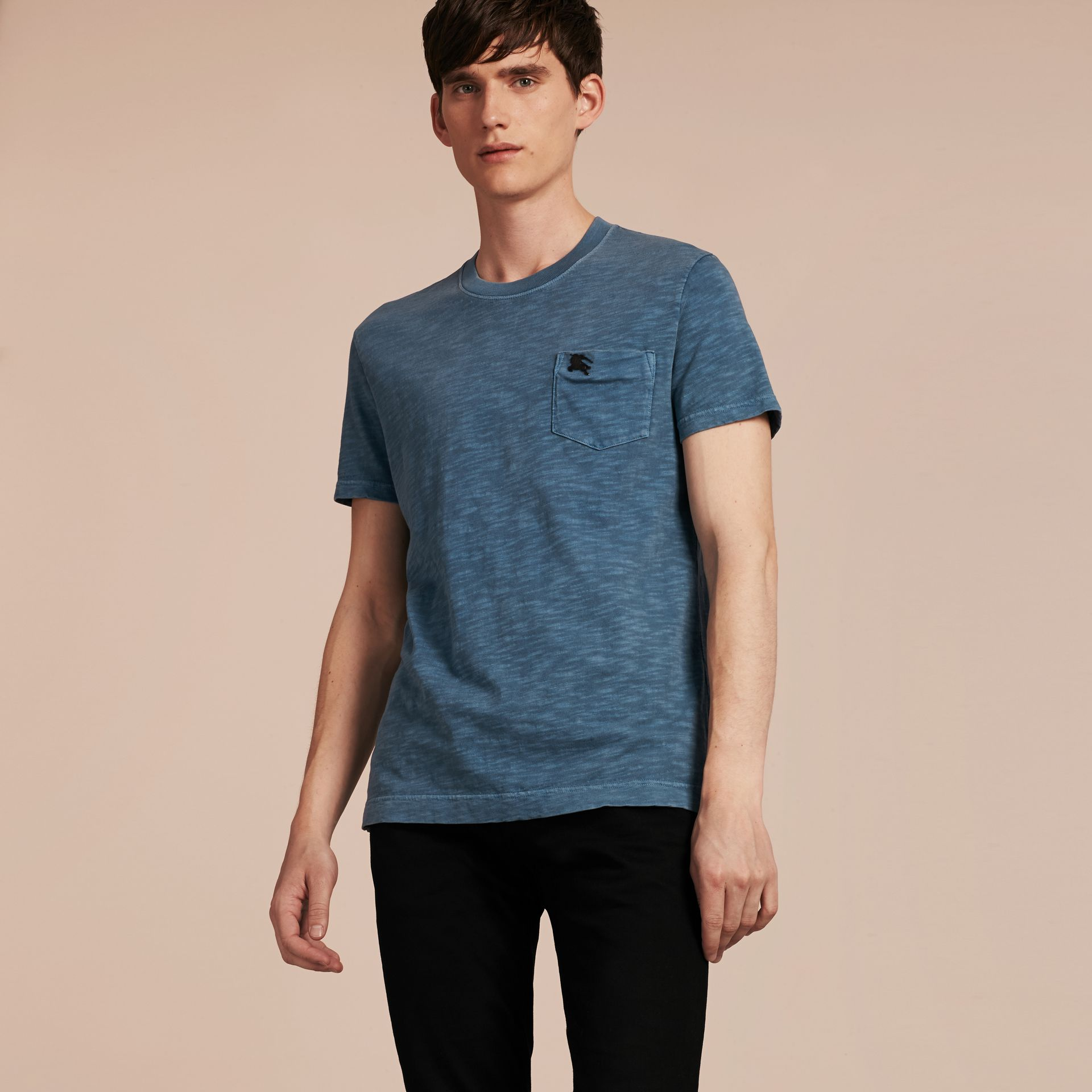 Lupin blue Slub Jersey Double Dyed T-Shirt Lupin Blue - gallery image 6