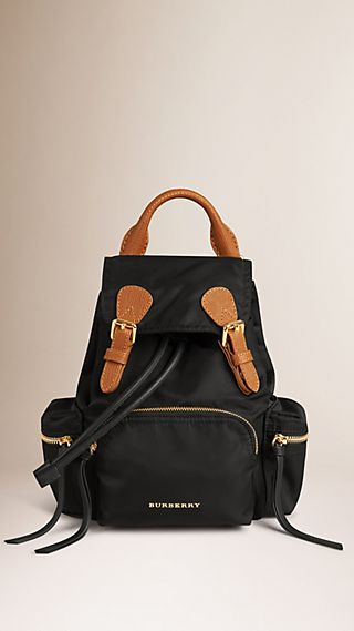 Zaino The Rucksack piccolo in nylon impermeabile e pelle