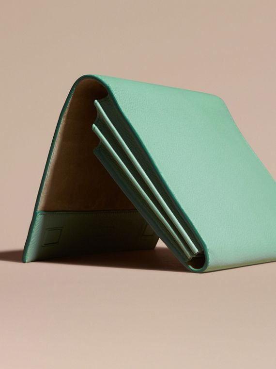 Light mint Grainy Leather Travel Wallet Light Mint - cell image 3
