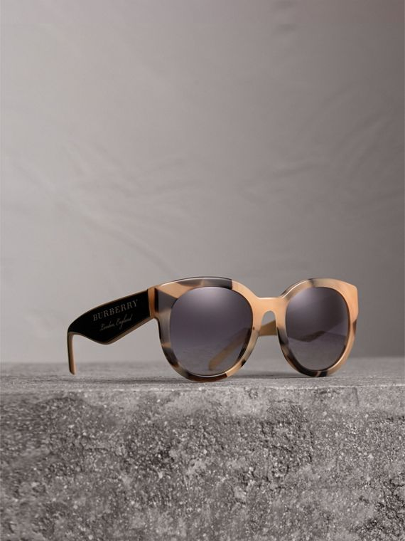 Round Frame Sunglasses in Honey