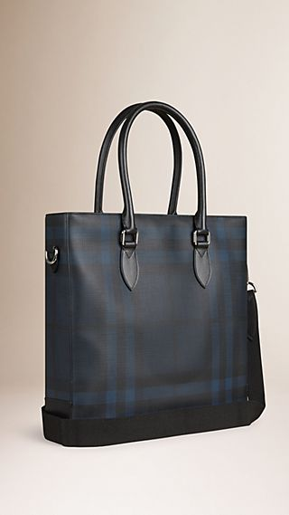 Borsa tote con motivo check London