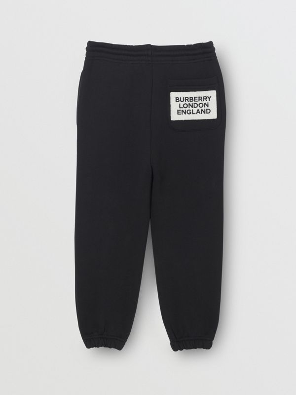 Logo Detail Jersey Trackpants in Black | Burberry Canada - cell image 2