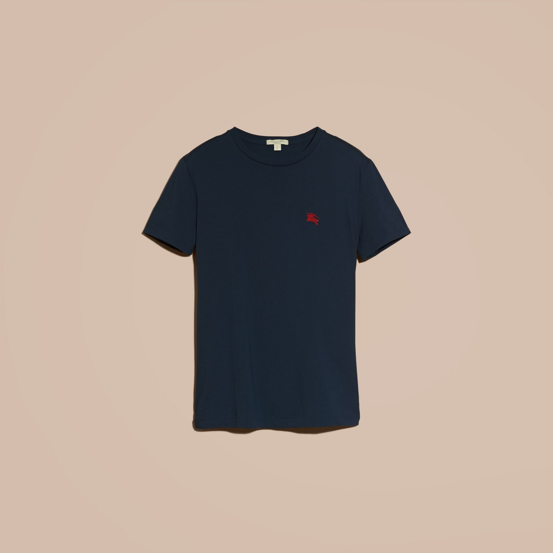 Cotton Jersey T-shirt in Navy - gallery image 4