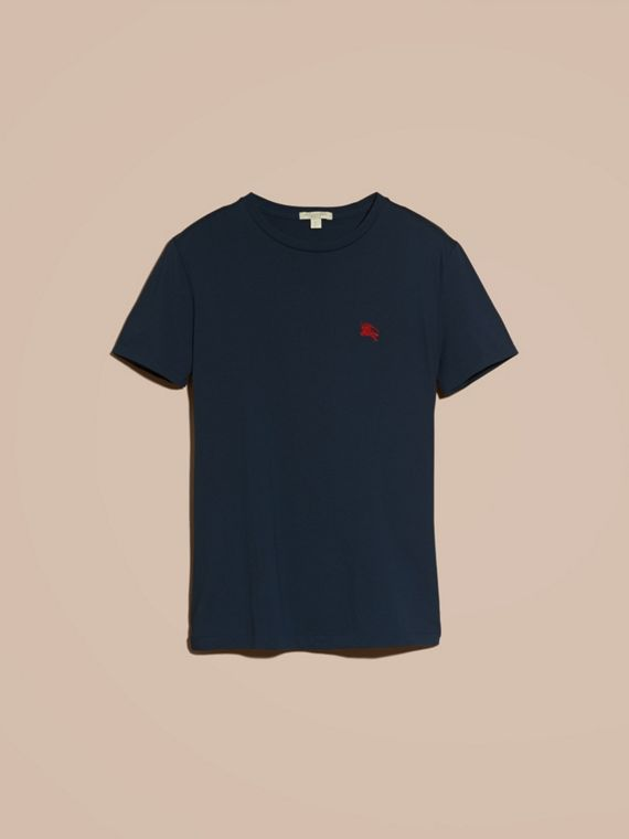 Navy T-shirt in cotone morbidissimo Navy - cell image 3
