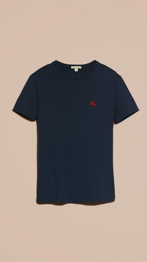 Navy Liquid-soft Cotton T-Shirt Navy - Image 4