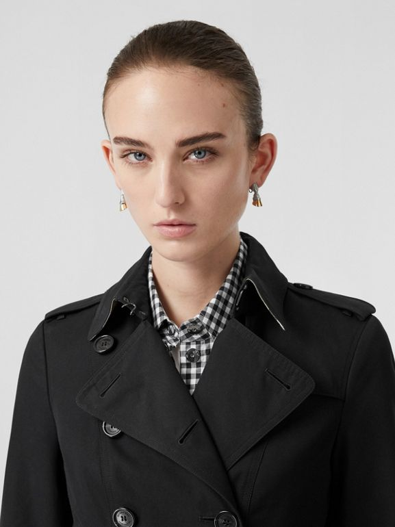 The Sandringham – Long Trench Coat in Black - Women | Burberry Singapore - cell image 1