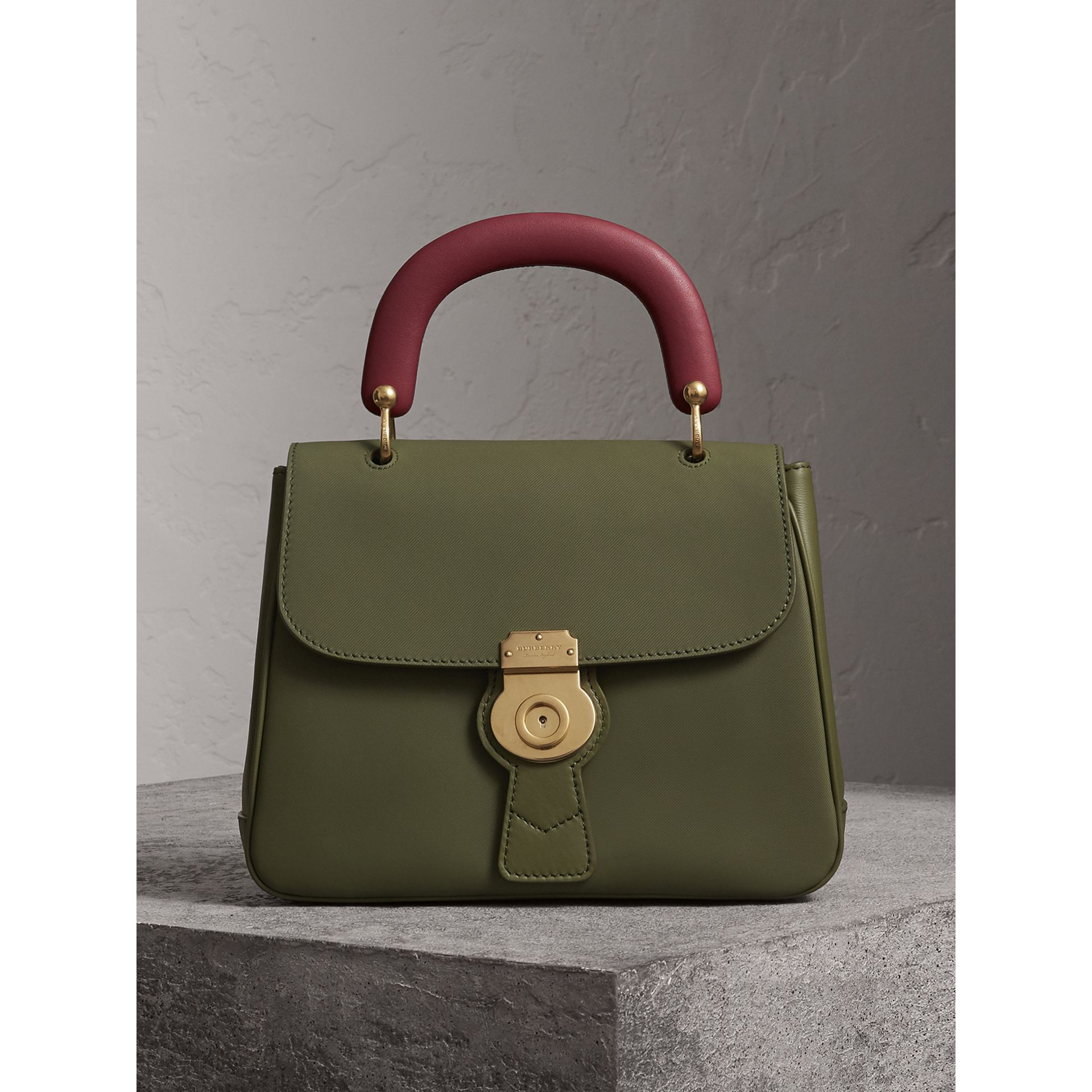 The Medium DK88 Top Handle Bag in Moss Green - Women | Burberry - gallery image 0