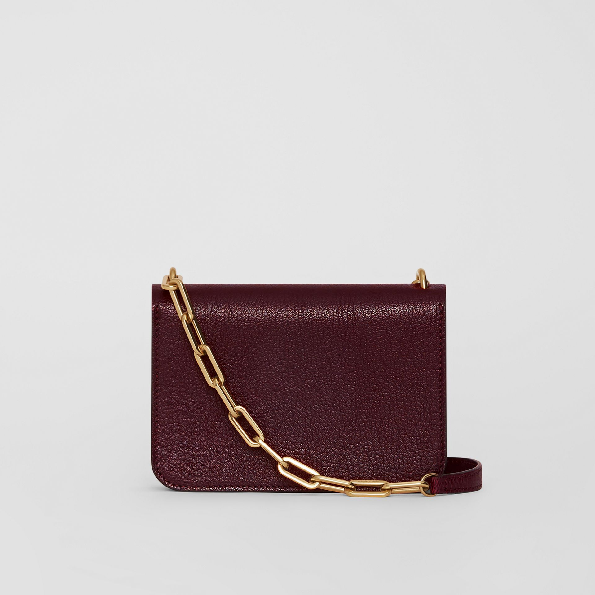 The Mini Leather Crystal D-ring Bag in Deep Claret - Women | Burberry - gallery image 7