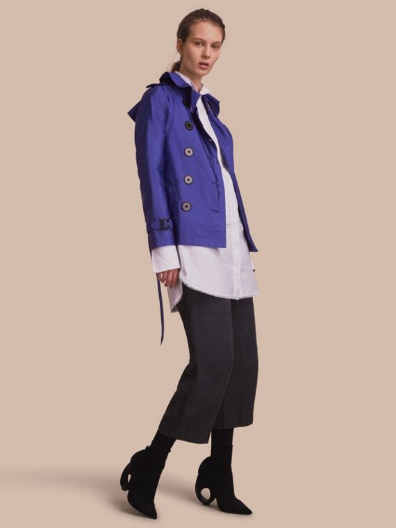 Trench coat impermeable Azul Zafiro