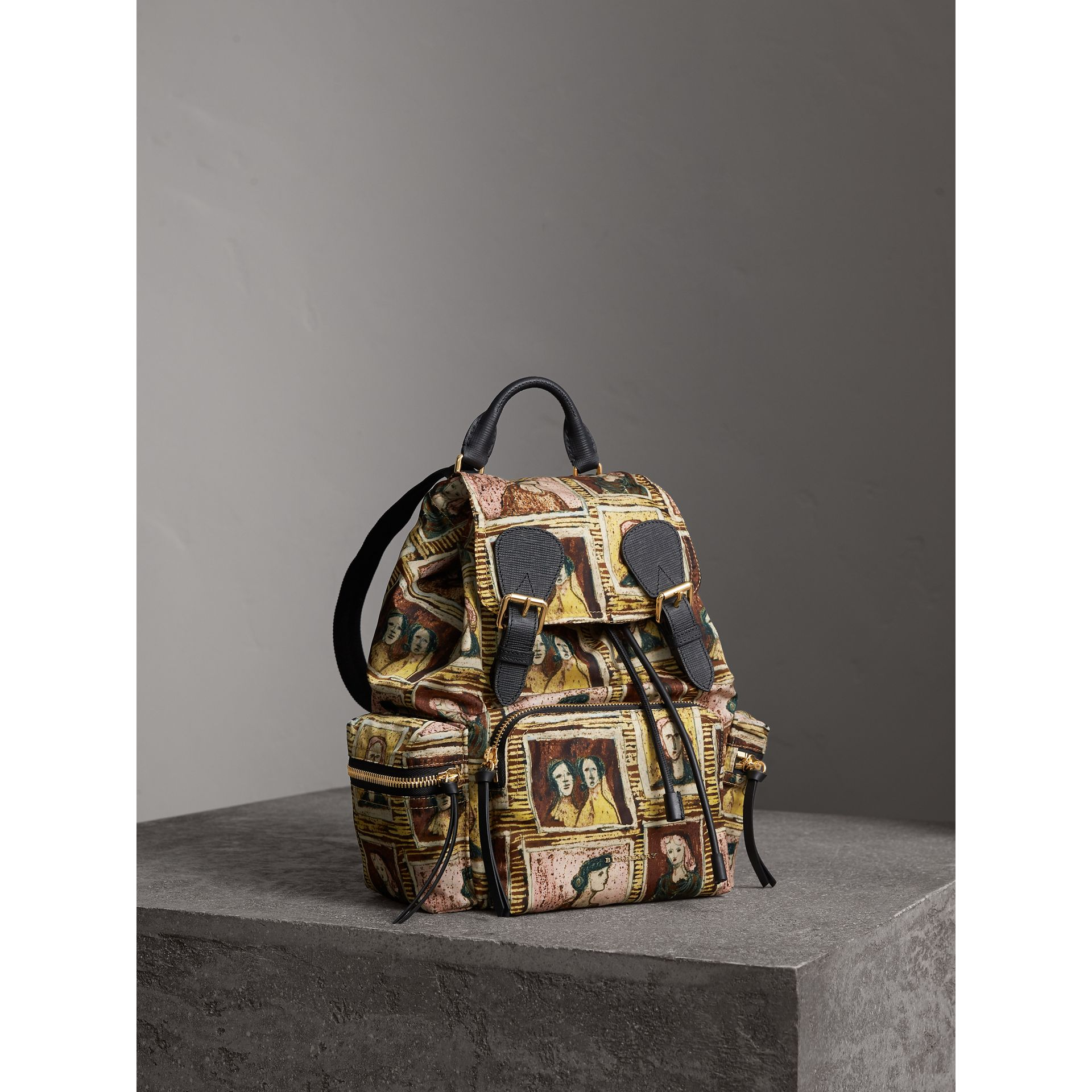 The Medium Rucksack in Framed Heads Print - Women | Burberry - gallery image 7