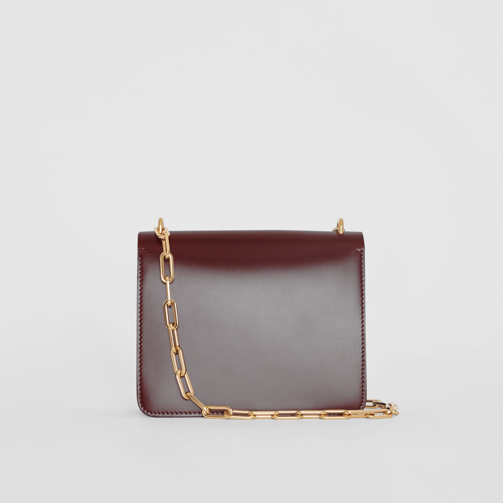 The Small Leather D-ring Bag in Deep Claret - Women | Burberry - gallery image 7