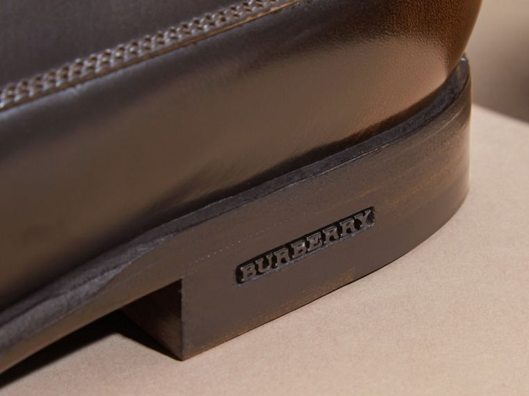 Ombré Perforated Detail Leather Derby Shoes - Men | Burberry - cell image 1