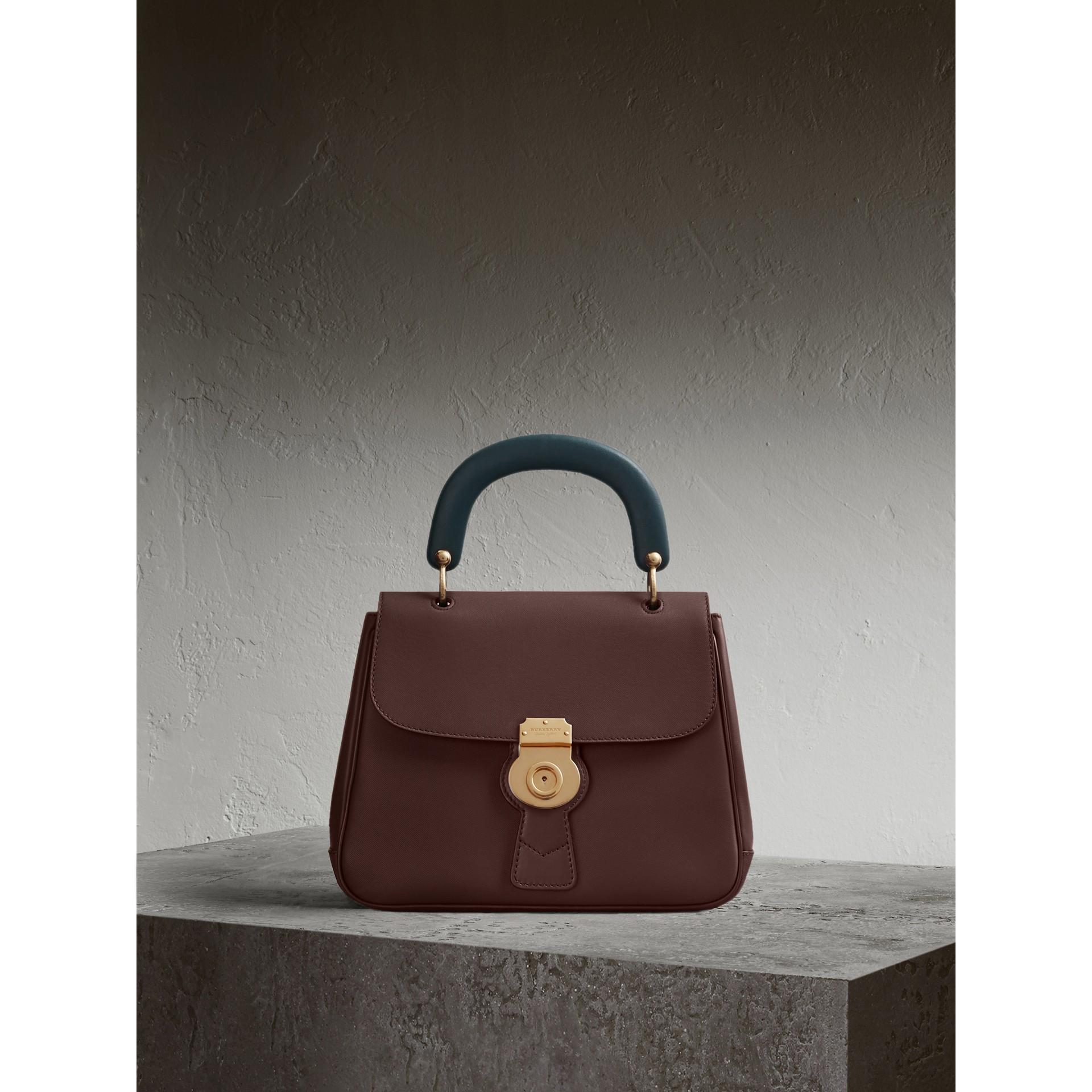 The Medium DK88 Top Handle Bag Dark Chocolate - gallery image 1