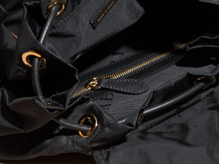 The Large Rucksack in Technical Nylon with Sequinned Flowers - Women | Burberry - cell image 4