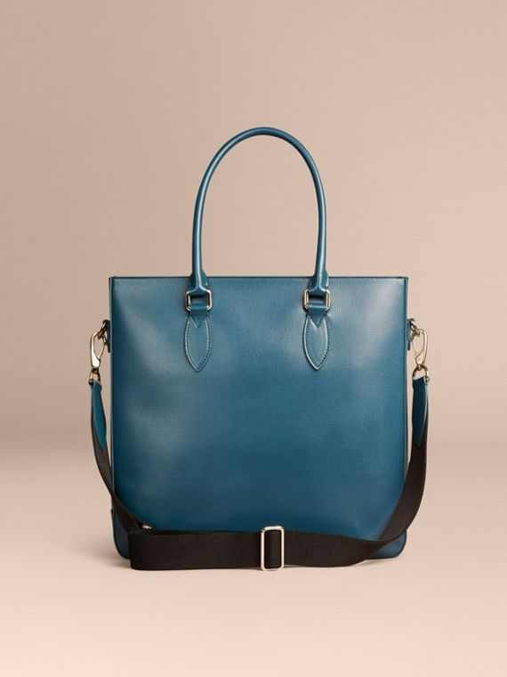 Mineral blue London Leather Tote Bag Mineral Blue - cell image 3