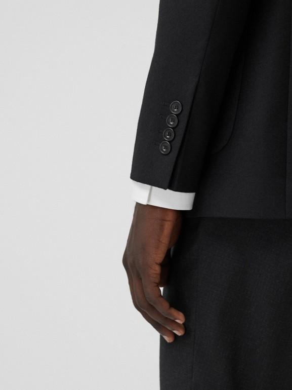 Slim Fit Monogram Motif Wool Flannel Tailored Jacket in Black - Men | Burberry - cell image 1