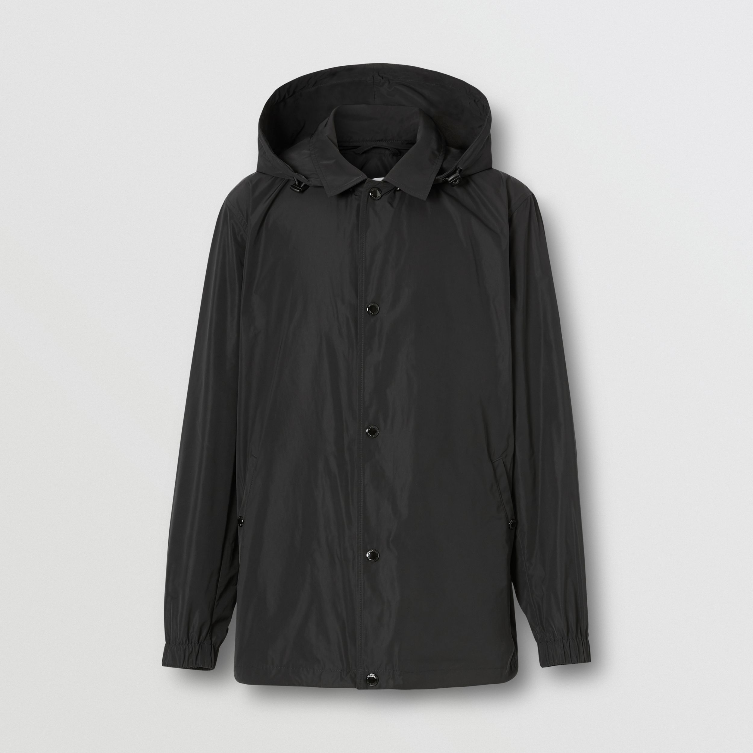 Detachable Hood Logo Graphic Lightweight Jacket in Black - Men | Burberry - 4