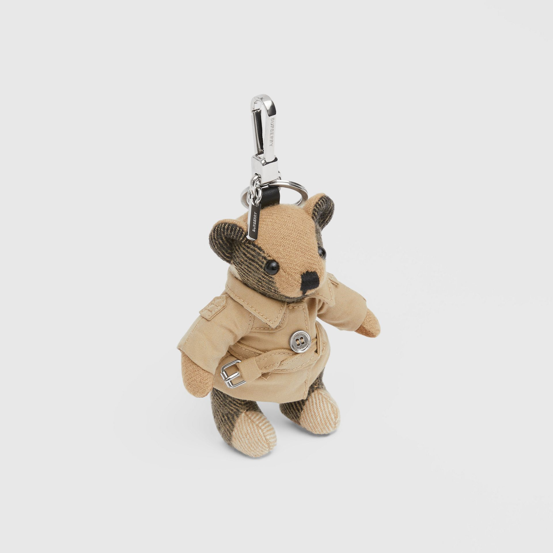 Thomas Bear Charm in Trench Coat in Archive Beige - Women | Burberry Australia - gallery image 2