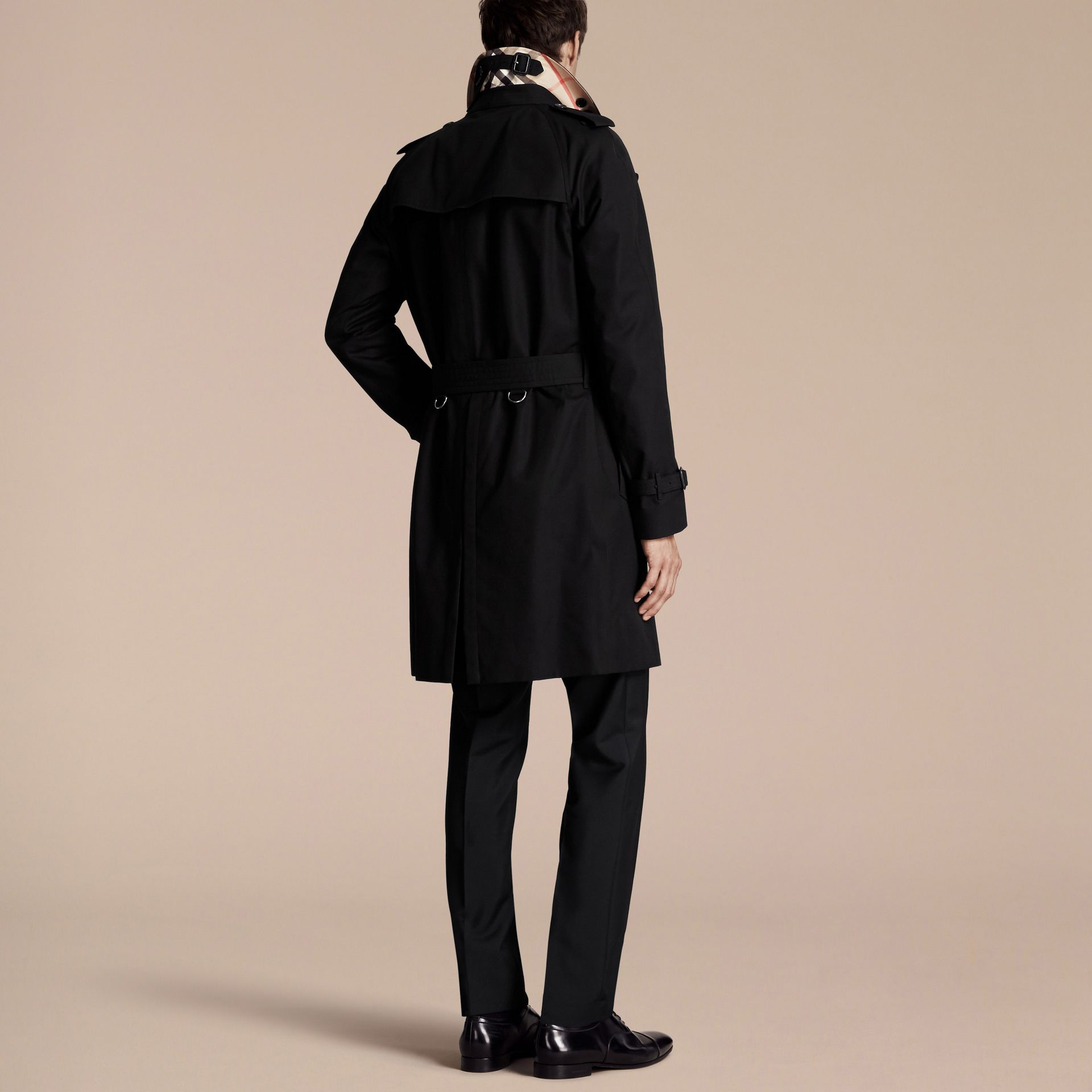 Black The Wiltshire – Long Heritage Trench Coat Black - gallery image 3