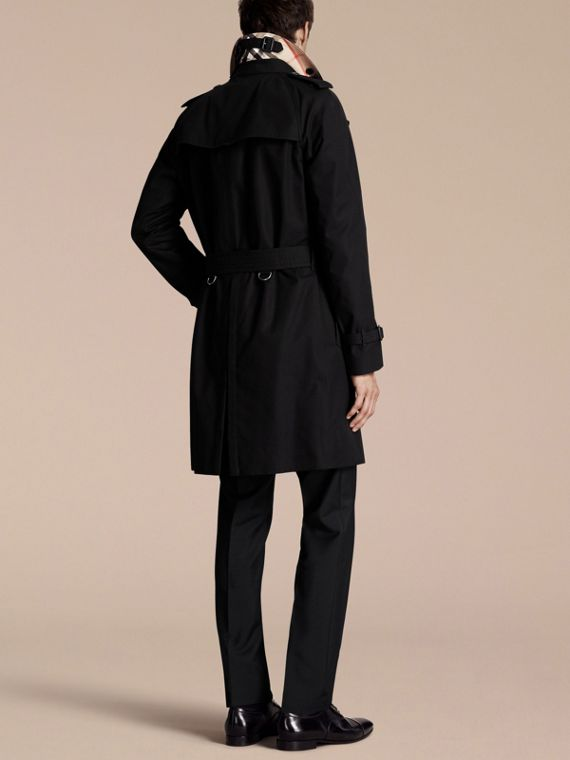Black The Wiltshire – Long Heritage Trench Coat Black - cell image 2