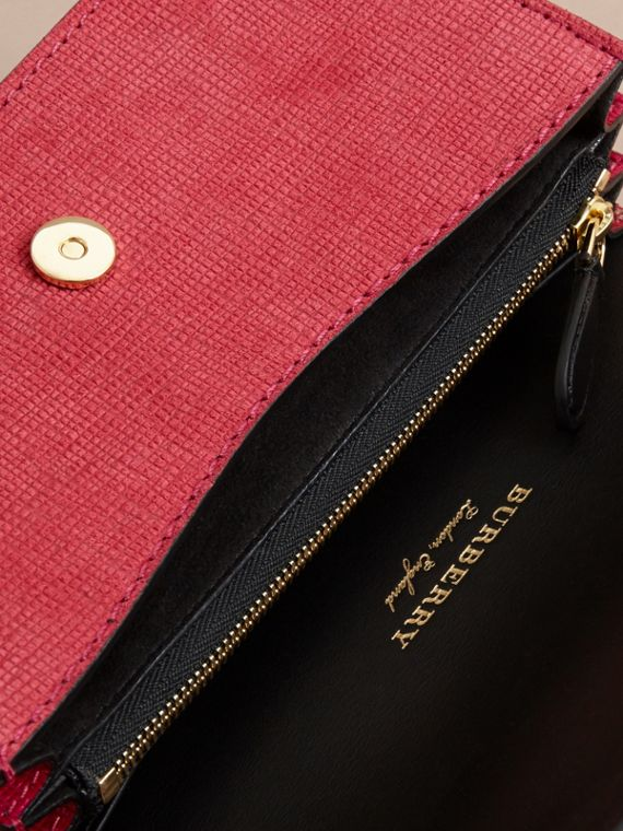 The Small Buckle Bag in House Check and Leather Bright Pink - cell image 3