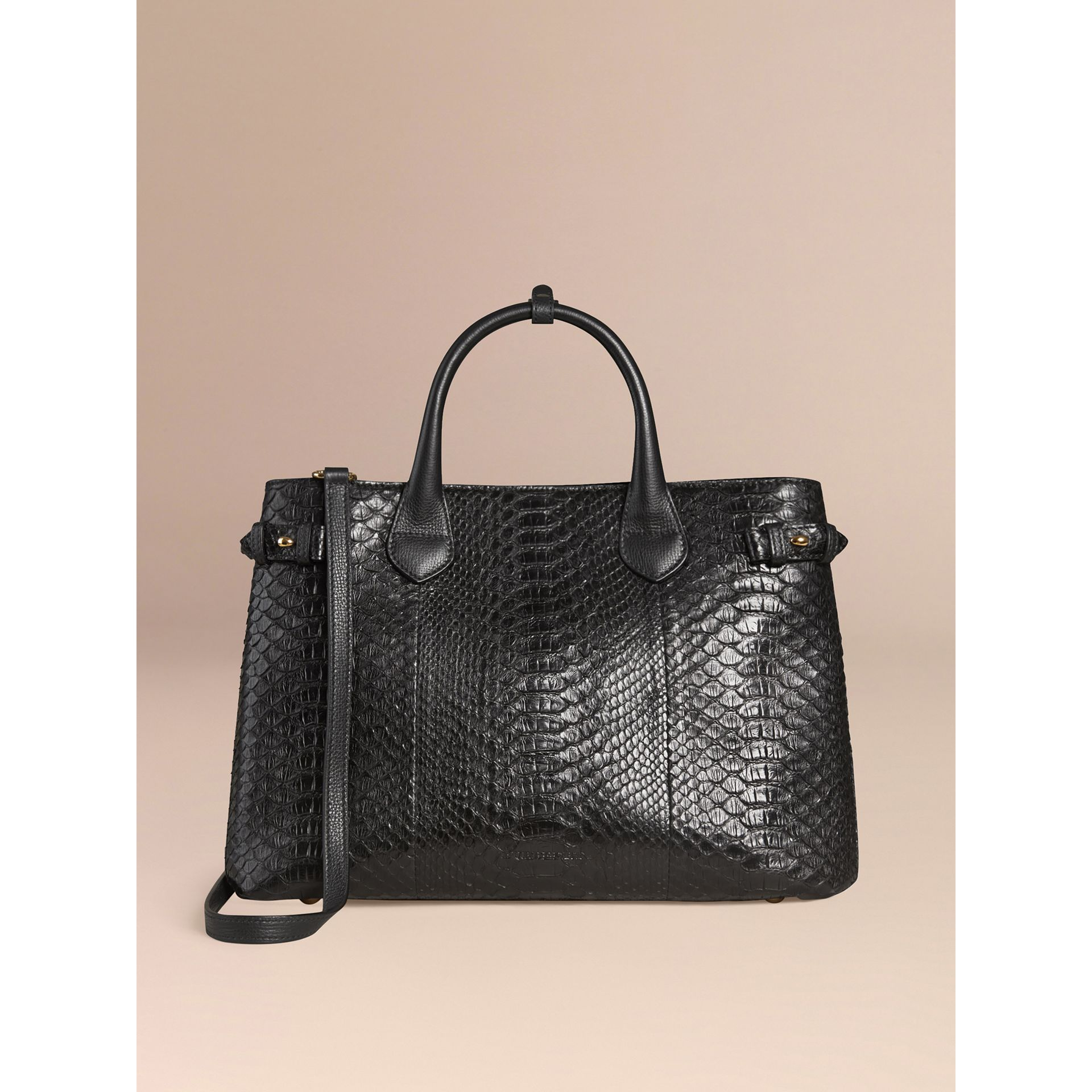 Sac The Banner medium en python (Noir) - Femme | Burberry - photo de la galerie 6