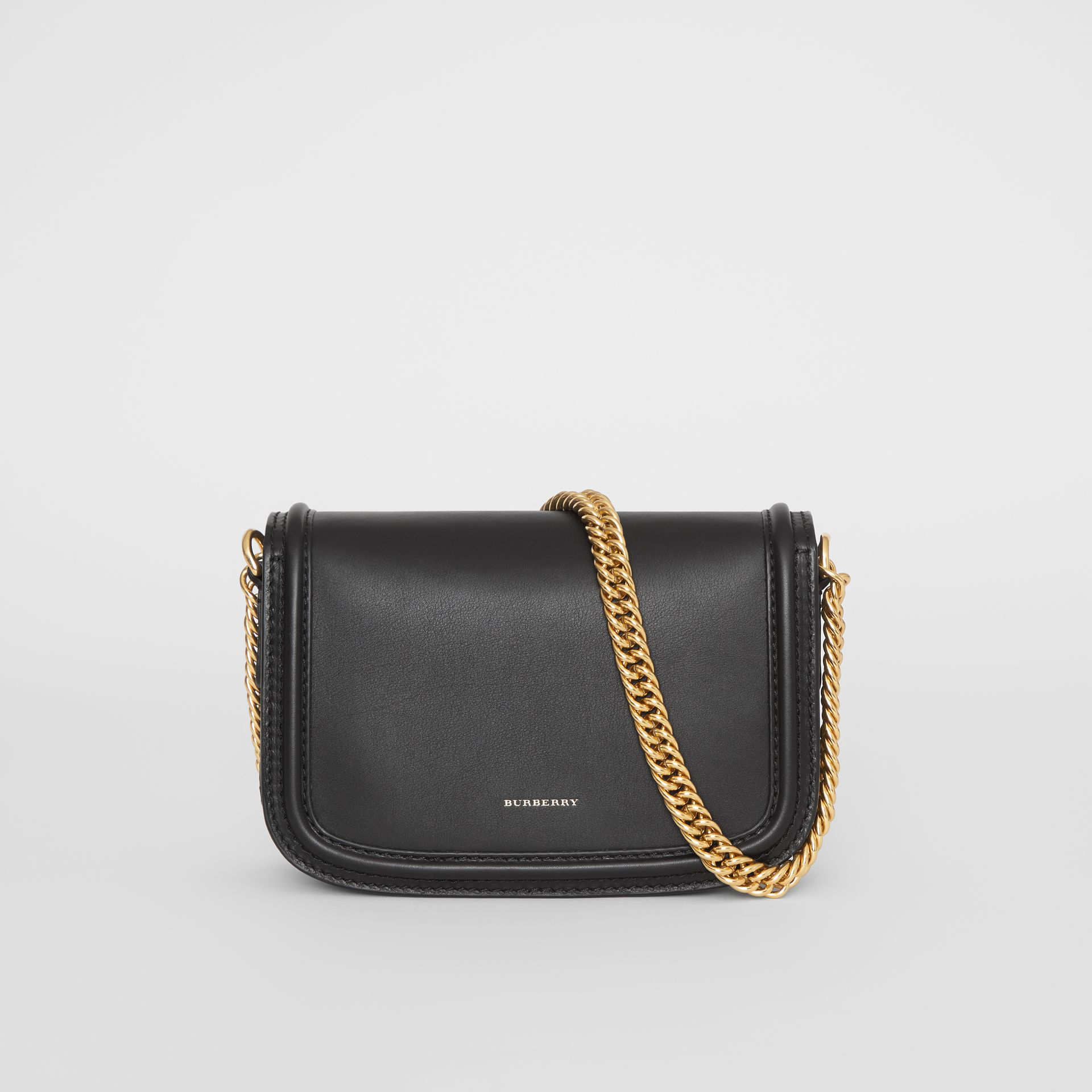 The Leather Link Bag in Black - Women | Burberry United Kingdom - gallery image 7